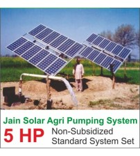 Jain Solar Agri Pumping 5 HP 4800 Wp 100 Mtr Fix Stand Regular