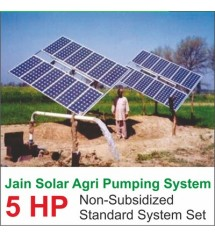 Jain Solar Agri Pumping 5 HP 4800 Wp 100 Mtr Auto Tracker Deluxe