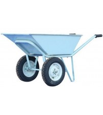 Double Wheel Barrow / Trolley - Grey