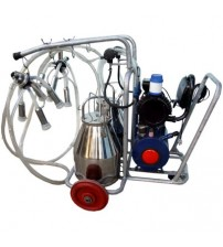 Milking Machine Mobile Trolley Double Cow Double Can
